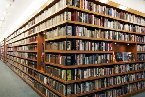 The Random House bookshelves