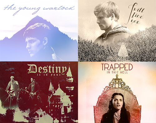 mockingisthejay:  four chapater images I made for a merlin challenge on TDA