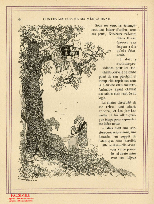 A page from Contes Mauves de la Mere-Grand, by Charles Robert-Dumas.