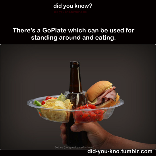 did-you-kno:  Link:  The Go Plate