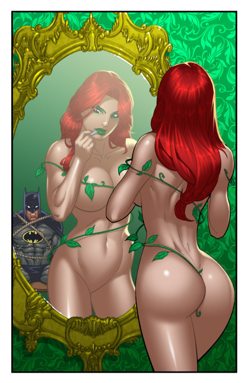 comic-view:  IVY AND BATMANby *justinblong   i want to be her for halloween when i loose all this weight!