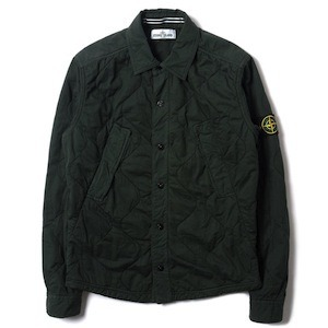 STONE ISLAND COTTON TWILL QUILTED SHIRT JACKET