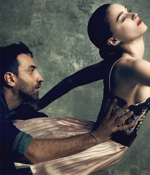 tefra:  Riccardo Tisci and Rooney Mara by Norman Jean Roy for Vogue, September 2012