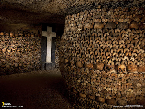mortisia:  National Geographic - photography of the catacombs of Paris Photographer: Stephen Alvarez  One of my favorite places in Paris.