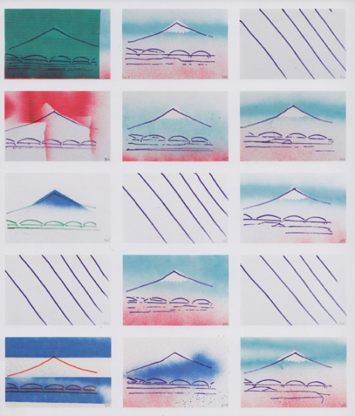 olivereast:  Robert Breer Drawings from the film Fuji, 1974