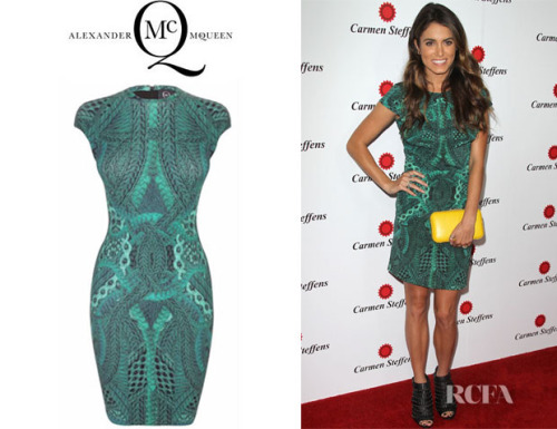 Style Recap: Nikki Reed This red carpet look on Nikki Reed (via RCFA) is a lesson in styling: take a high fashion dress, like Nikki's McQ Alexander McQueen printed cap sleeve number, add some edgy heels for a kick of rock 'n roll, and choose a clutch in a bright contrasting color, and you have a style that's cool, youthful, and still put-together enough for the Best Dressed lists. Show us your best outfits from the week on Get Stylin'!