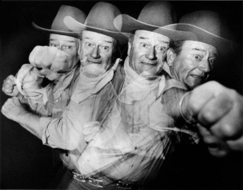 John Wayne's punch Phil Stern via Retronaut