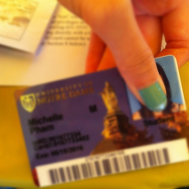 #notredame and yes I'm covering my face. (Taken with Instagram at University of Notre Dame)