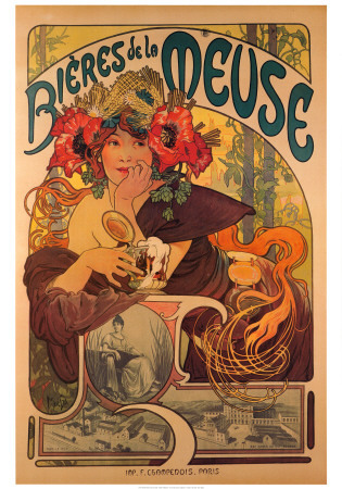 I have a bit of an obsession with Alphonse Mucha. Here's one of my favorite.