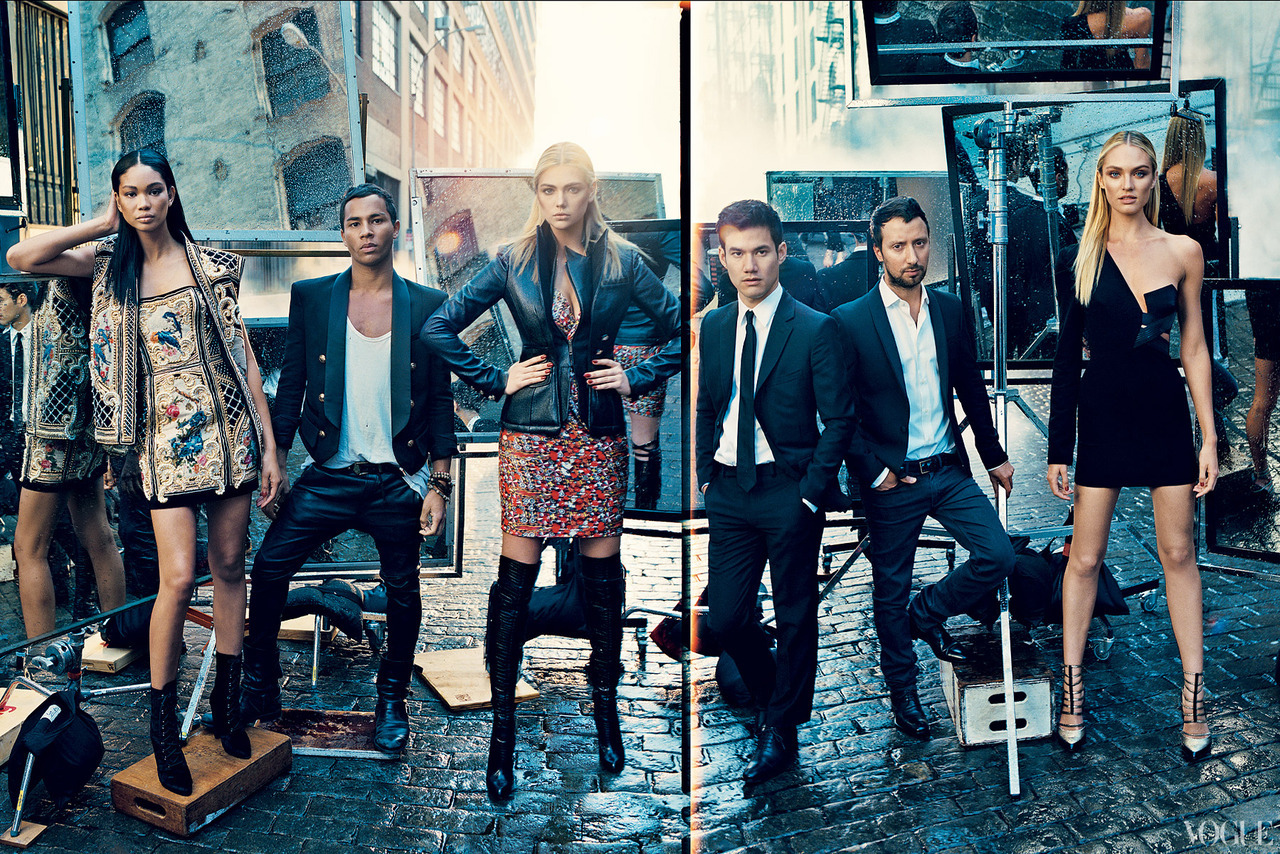 The Vogue 120 Chanel Iman, Olivier Rousteing, Kate Upton, Joseph Altuzarra, Anthony Vaccarello, Candice Swanepoel.