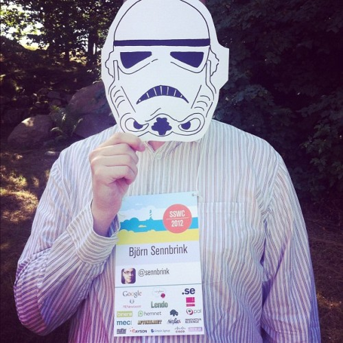 I am a Stormtrooper yes I am #sswc  (Taken with Instagram)
