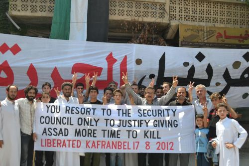 17/08/12 #Syria - You resort to the security council only to justify giving Assad more time to kill - Kafranbel today