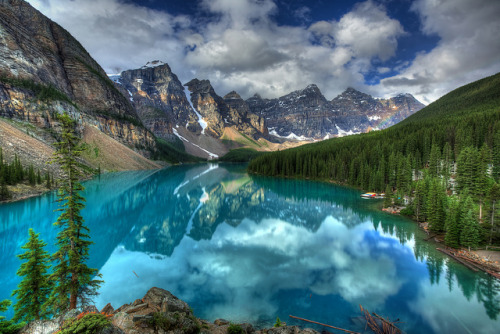 Lake Moraine Reflection by edwademd on Flickr.