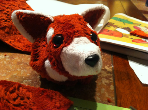 Head is finished. Have a good chunk of the body done. I'm worried the tail is too skinny.