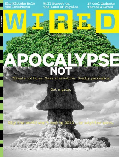 "coverjunkie:  Wired (US) Woops great artwork!New August cover Wired USA edition: ""Apocalypse not""Render by Thomas Mangold. Design by Leo JungCreative director Brandon Kavulla (read here about his redesign at Men's Health on SPD)Design director Leo JungPhoto editor Zana WoodsArt director Alice Cho, Bradley R. Hughes and Tim Leong"