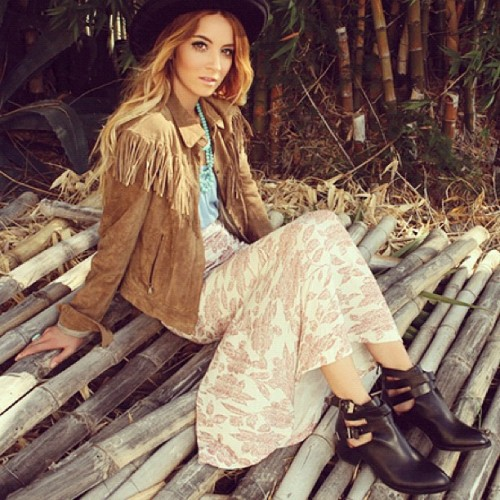 From our #WanderAway lookbook, the Everly boot! How gorgeous is @hondawgg? #jeffreycampbell  (Taken with Instagram)