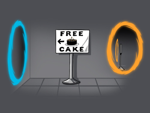 geeksngamers:  Free Cake - by Ramy Badie On sale at TeeTurtle now Facebook | Twitter