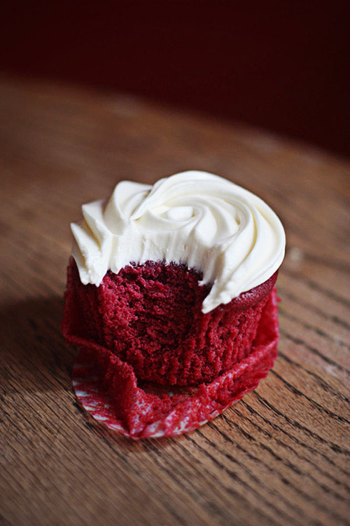red velvet cupcake.  our favorite.