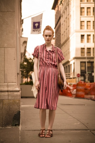 Back to School in Stripes and Sandals…Greenwich Village, NYC (via StyleSource)