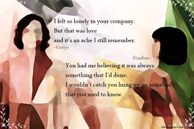 Somebody that I used to know ~Gotye feat. Kimbra