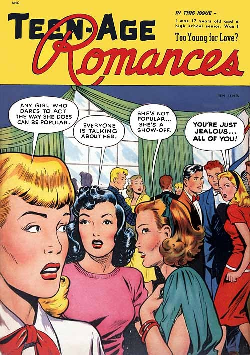 Teen-Age Romances, 1949Cover art: Matt Baker Matt Baker was one of the first African-American comic book artists