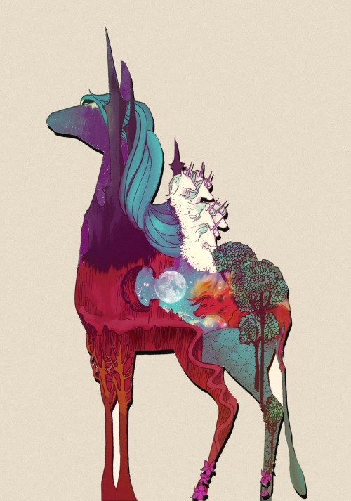 nellfoxface:  my fan art of the last unicorn
