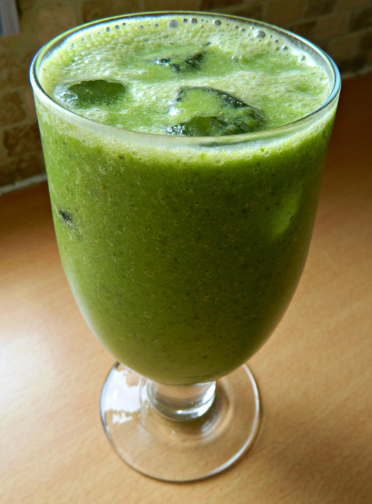 My favourite green smoothie - 1 ripe banana, 1 date (for natural sweetness!), several handfuls of spinach, a big splash of almond milk, 1/2 tbsp natural peanut butter and a tbsp or so of chia seeds all poured over lots of ice and drunk with a straw. Maybe I'll add some raspberry jam next time and it'll taste like a PBJ smoothie…