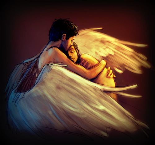 Angel image of the day. ourspiritnow:  Love… that's the whole story. ourspiritnow
