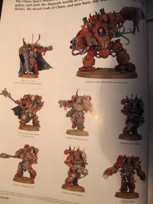 Chaos Space Marines from 6th ed starter set