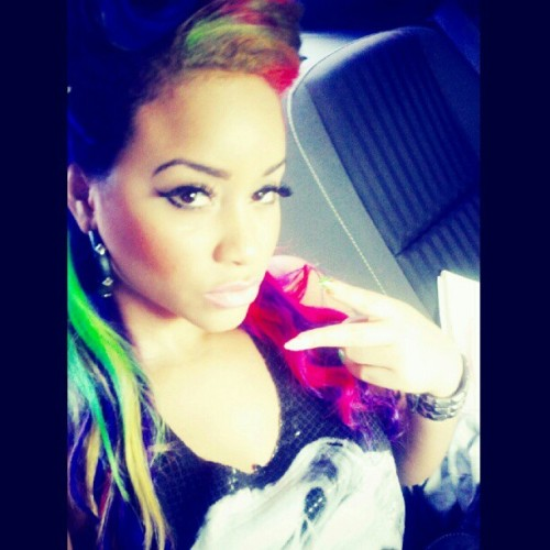 Riding with my girl @shallingda to plies videoshoot.. (Taken with Instagram)