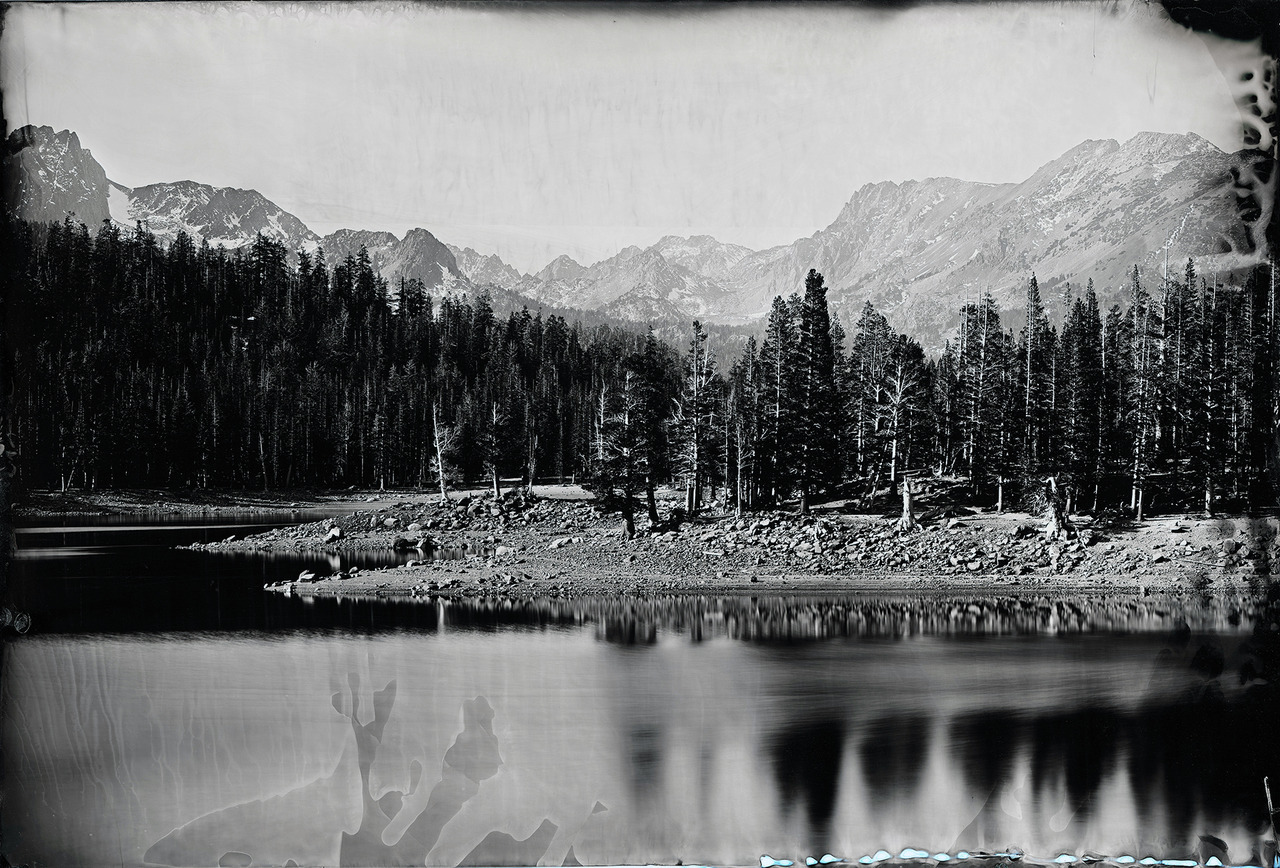 "Ian Ruhter/ Wet Plate Collodion 36""x24""/ The Lake /Mammoth Ca, 10.10.2012"