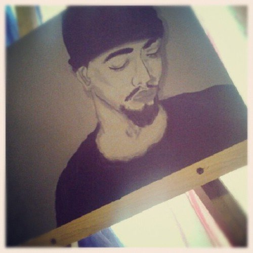 phillipsk3:  @ivonninja painting of me!!! (Taken with Instagram)