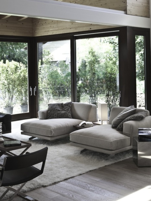 justthedesign:  justthedesign: Living Room With Light Grey Interior