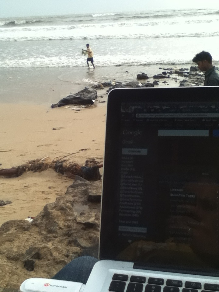 Our new office in Bombay, because productivity needs a fresh breeze and some waves :)