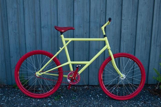 Jonas' new bike…all started with a $25 dollar frame  Norway.