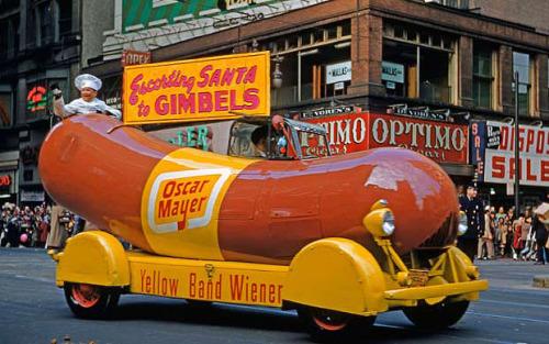 Wienermobile - Philadelphia, Pennsylvania - 1951
