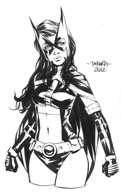 mtakara:  Huntress - inks by *marciotakara  Reblogging because it looks like she's packing…and I'm okay with that.