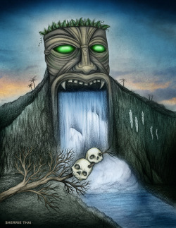 nocornea:  Tiki Waterfall by shaire productions