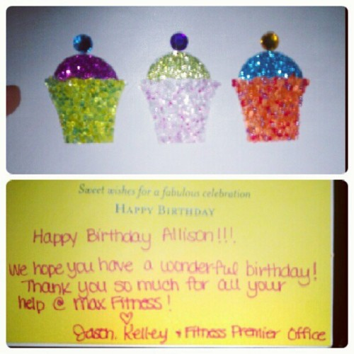 a #happy #birthday from corporate? whudddup. #cute #card #sweet #people  (Taken with Instagram)