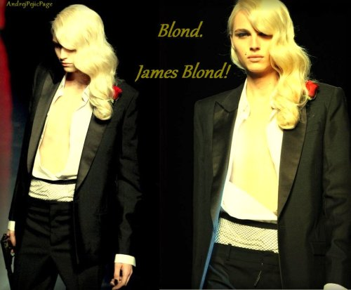 andrejpejicpage:  Blond. James Blond!