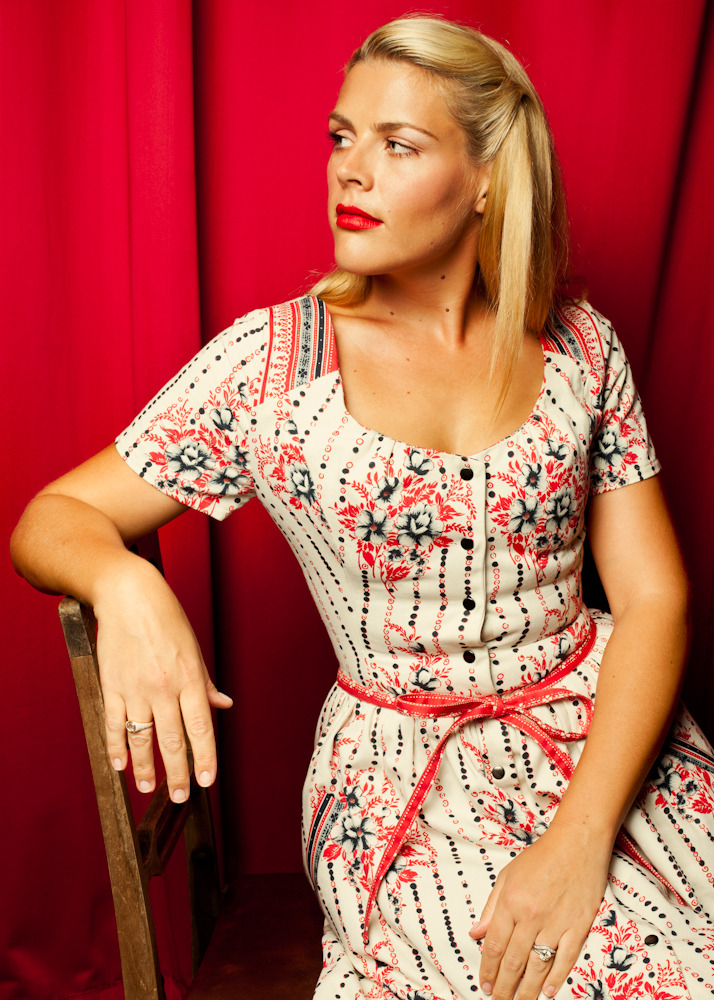 imwithkanye:  Busy Philipps photographed by Roman Cho for The Thrilling Adventure Hour. (Check out more portraits of the actors who participated in the stage production.)