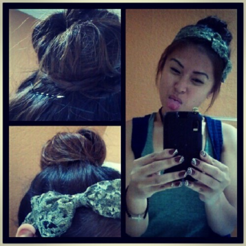 #hotd #hair #bun #bored (Taken with Instagram at At Home)