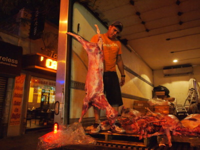 Dead Lamb Delivery. —Jackson Heights, midnight.