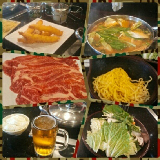 Lunch with @kirbytogopls #tokyoshabushabu #instagood #kobebeef #lunch (Taken with Instagram at Tokyo Shabu Shabu)
