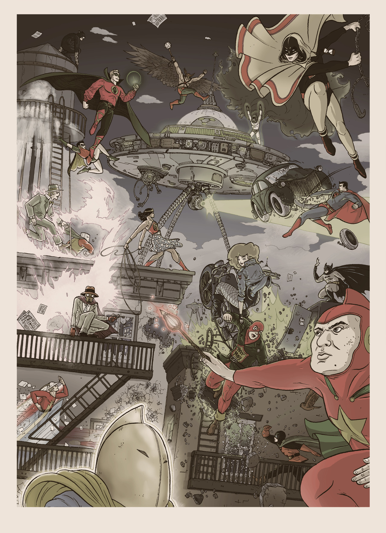 The Justice Society by Ulises Farianas