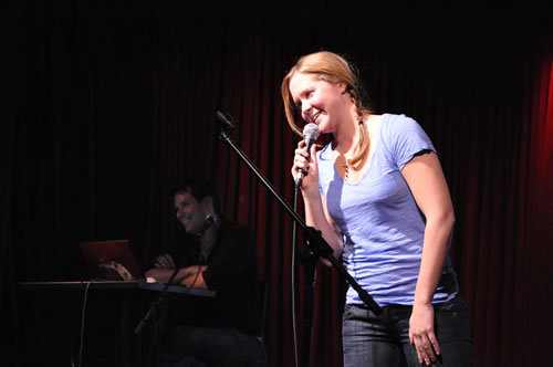92y:  Amy Schumer (and Michael Ian Black) at 92YTribeca's Comedy Below Canal series in 2010. Amy's new stand-up special, Mostly Sex Stuff, premieres tomorrow night on Comedy Central.