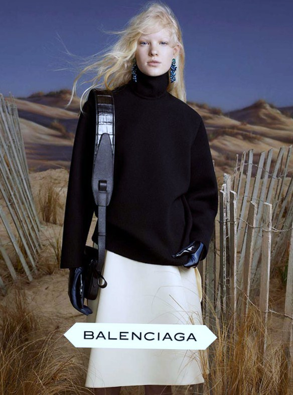 Balenciaga Fall/Winter 2012 Campaign shot by Steven Meisel featuring Linn Arvidsson