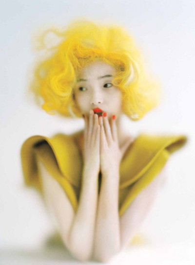 """Punk'd"", Xiao Wen Ju photographed by Tim Walker in Vogue September 2012"