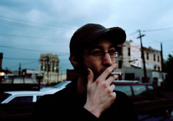 Something old. Ian Smoking, Hoboken, NJ 2004 #FB