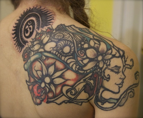 My tattoo, in progress…
